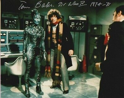 Tom Baker and John Leeson In Person signed photograph - Doctor Who - A141