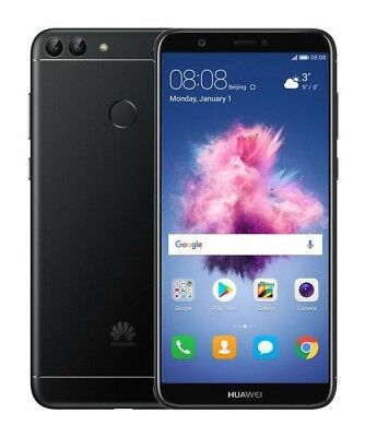 """SimFree Huawei P Smart 5.65"""" 32GB 3GB 4G LTE OctaCore Unlocked Black Android 8.0"""
