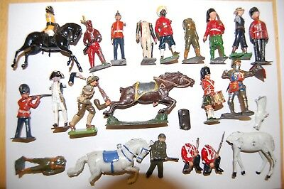 Job Lot Of Vintage Britains & Other Makers Lead Soldiers                    J2