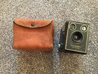 Vintage Kodak Six-20 Brownie C Camera with Canvas Case