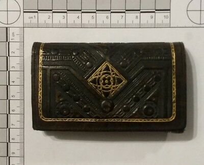 Antique Or Vintage Leather Wallet Purse Coin Card Stamp Case