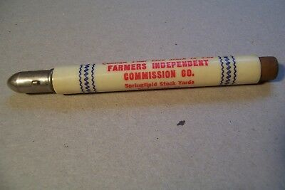 Stock Yard Bullet Pencil Farmers Independent Commission Co Springfield Illinois