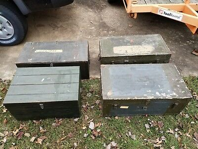 Lot of 4 - Vintage Foot Locker Military Chest Trunk -Local Pick Up Only