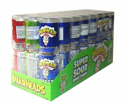Warheads Super Sour Spray (24 x 20ml Display Unit)