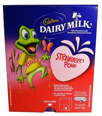 Cadbury Freddo Frog Strawberry Pond (72 x 15gm in a Display Unit)