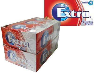 Extra Gum - Strawberry Flavour (14 soft gum strips x 24 packs Display Unit)