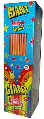 Giant Rainbow Straws (140pc Display Unit)