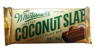 Whittakers Coconut Slab (50g bars x 50pc box)