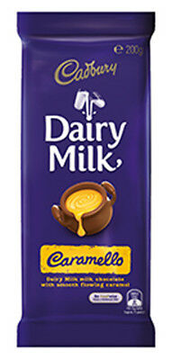 Cadbury Dairy Milk Caramello Family Blocks (200g x 15pc box)