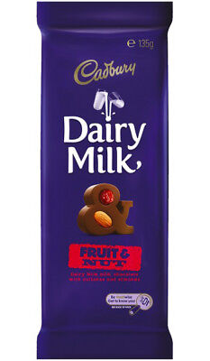Cadbury Dairy Milk Fruit and Nut Small Blocks (135g x 11pc box)