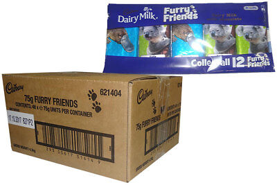 Cadbury Furry Friends - 5 pack (75g x 48pc box)