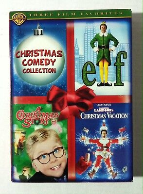 Christmas Comedy Collection Elf Christmas Story Vacation (DVD, 2007, 3-Disc Set)