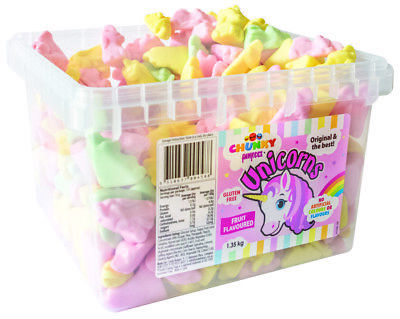 Chunky Funkeez Unicorns (Approx 300 faces  in a display container)