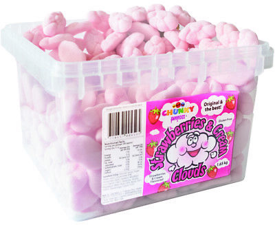Chunky Funkeez Strawberry & Cream Clouds (Approx 300 Clouds  in a display con...