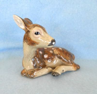 RARE Old Fine Austrian Pottery Deer Figurine Maker's Mark Made in Austria