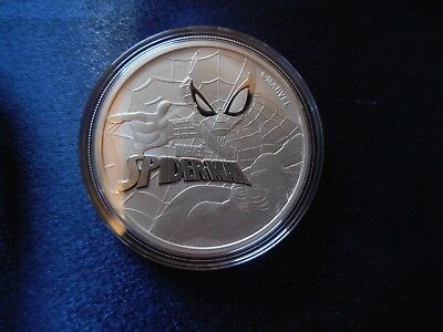 2017 Tuvalu Spiderman Marvel 1 Oz Coin .999 Fine Silver