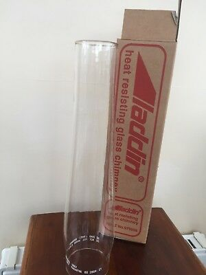 Clear Glass Aladdin Oil Lamp Chimney In Original Box