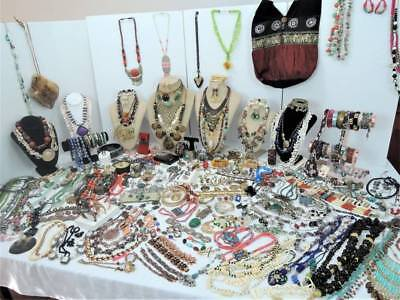 Huge High End 377 Pc Around The World Vintage Sterling*genuine Stone+ Jewel Lot!