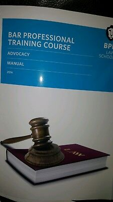 BPP Bar Professional Training Course - Advocacy Manual 3rd Edition (2016)