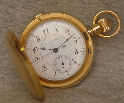 14k Gold Minute Repeater Chronograph Hunter Case Pocket Watch - Organized Crime!