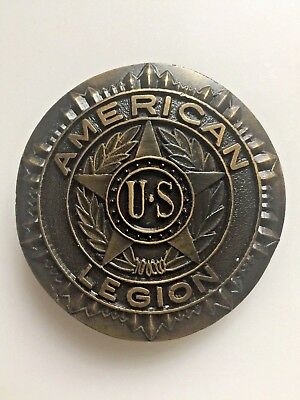 **NOS** VINTAGE US AMERICAN LEGION BRASS BELT BUCKLE Indiana Metal Craft