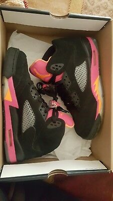 competitive price bf9c6 957d6 ☆Girls Air Jordan 5 Retro▫Black Bright Citrus Fusion Pink▫Grade