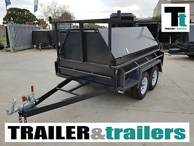 8x5 BUDGET HD TANDEM TRADESMAN TRAILER | 1990Kg GVM | 600mm TOP | JOCKEY WHEEL