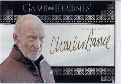 Charles Dance autograph Valyrian Steel Game of Thrones