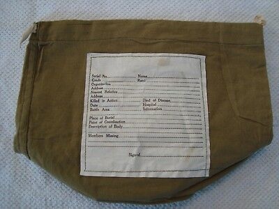 Wwii Personal Effects Bag For Killed In Action Died In Service - Original Unused