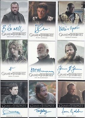Game of thrones Season 7 autograph lot of 9 different