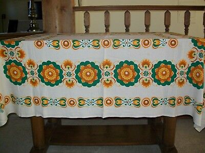 Vintage Tablecloth Flowers