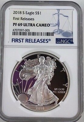 2018 S $1 American Silver Eagle Proof NGC PF69UC First Releases (005)