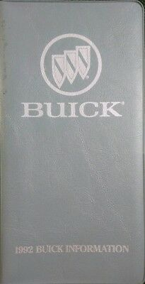 1992 Buick Sales Info Price Directory Booklet Exterior Colors Pocket Reference