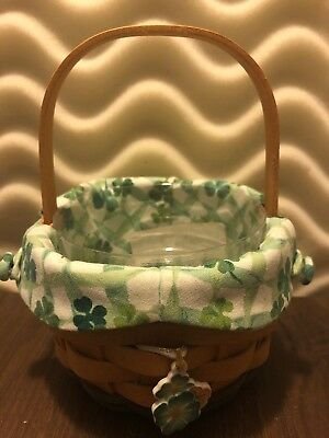 Longaberger~2001~Lucky You~Basket Combo with Lid, Liner, Protector~Collectible