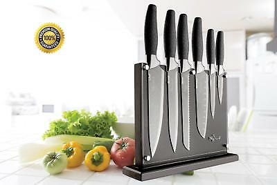 New England Cutlery 7 Pieces Titanium Coated Professional Chef Knife Set -Silver