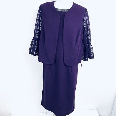 9a4ce4d8 MAYA BROOKE EggplantTwo Piece Women Dress Set. Size 14W. New With Tags