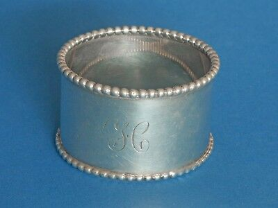 Beautiful Sterling Silver Beaded Napkin Ring