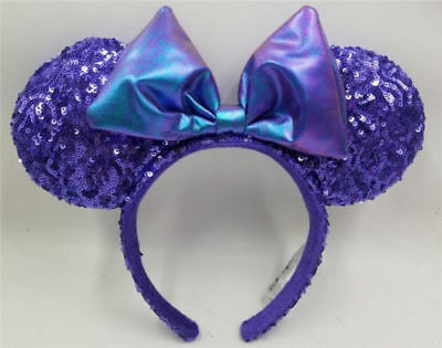 Disney World PARKS Purple Potion Sequin EARS Mickey Minnie Mouse Headband