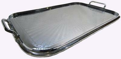 Vintage Ranleigh Art Deco Stainless Drink Serving Tray 49.5 x 31 cm