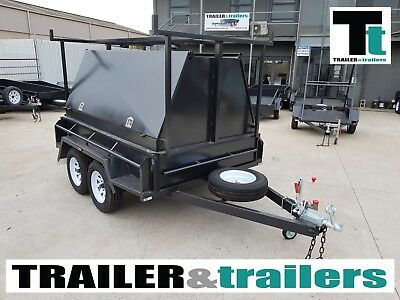 8x5 BUDGET HD TANDEM TRADESMAN TRAILER |1990Kg GVM | 900mm TOOLBOX |JOCKEY WHEEL