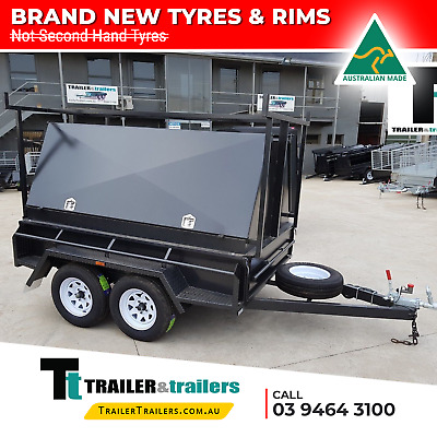 8x5 BUDGET HEAVY DUTY TANDEM TRADESMAN TRAILER |1990Kg GVM | 900mm TOOLBOX TOP