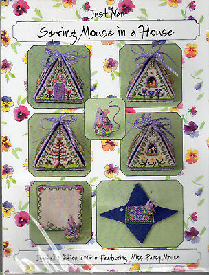 SALE! MORE! Just Nan Counted Cross Stitch Chart + Embellishments- You Choose!