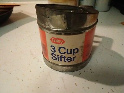 Antique Foley 3 cup flour sifter