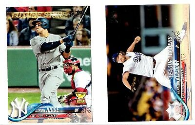 2018 Topps Baseball Series 1 and 2 700 Card Set Near Complete 684 Cards