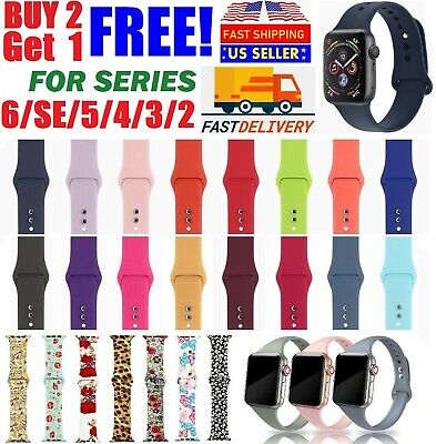 Silicone Nylon Sport Band Strap for Apple Watch Series 5 4 3 2 1 42/44mm 38/40mm