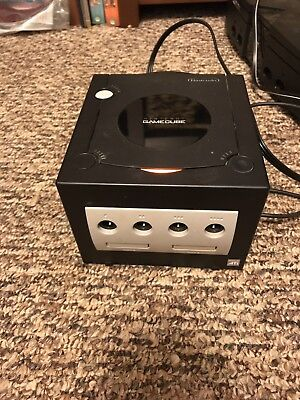 Nintendo GameCube Console With The Power Cord And Video Cord Only Tested - Black