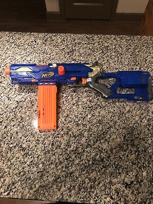 NERF N-STRIKE LONG STRIKE CS-6 SNIPER RIFLE GUN w MAGAZINE WORKS LOT T29