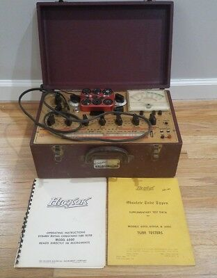 Hickok 6000 Vintage Mutual Conductance Tube Tester w/ Copy of Manual