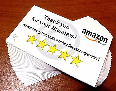 Thank You cards for Amazon sellers - 100 cards