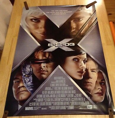 2003 Marvel 'X-Men 2' Original Double Sided Movie Poster 27x40